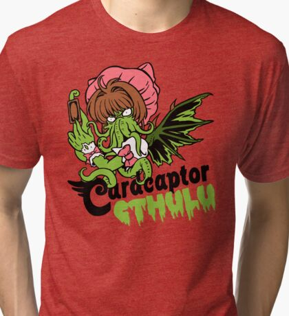 Card Captor Cthulu Tri-blend T-Shirt