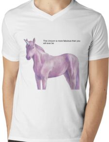 Fabulous Unicorn Mens V-Neck T-Shirt