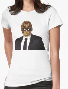 Captain Falcon in Formal Attire Womens Fitted T-Shirt
