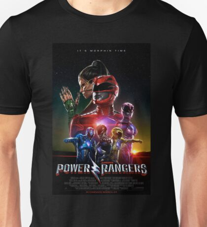 Power Rangers Movie Poster Artwork 2017 Unisex T-Shirt
