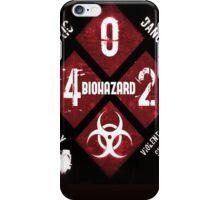 Biohazard warning iPhone Case/Skin