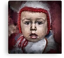 Just another boring baby shot Canvas Print