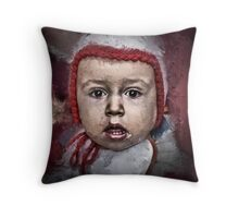 Just another boring baby shot Throw Pillow