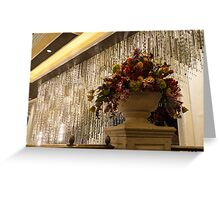 Of Flower Arrangements and Sparkling Crystals Greeting Card