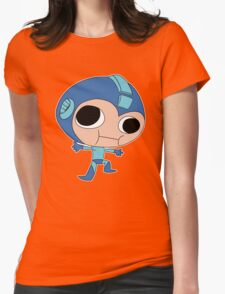Stupid Fighting Robot, Megaman Womens Fitted T-Shirt