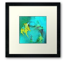 Searching for Peace abstract ART+Product Design Framed Print