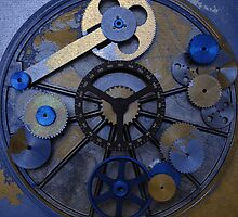 Gear Abstract Four In Blue by Gary Conner