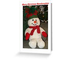 Merry Christmas Grandaughter Greeting Card