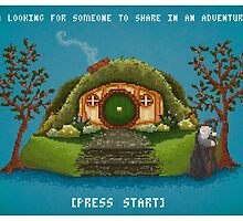 Share In An Adventure, Ode to The Hobbit Pixel Art by TaylorRoseArt