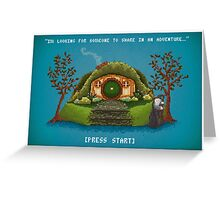 Share In An Adventure, Ode to The Hobbit Pixel Art Greeting Card