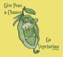 Give Peas a Chance... Go Vegetarian T-Shirt