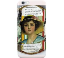 On Being A Woman iPhone Case/Skin