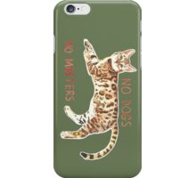 No Dogs No Masters iPhone Case/Skin