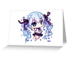Bottle Miku Greeting Card