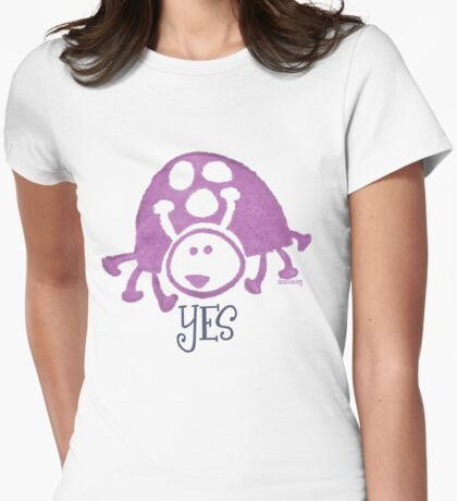 Ladybug Stamp Womens Fitted T-Shirt