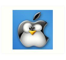Linux Apple Art Print