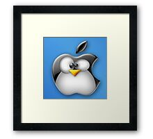 Linux Apple Framed Print