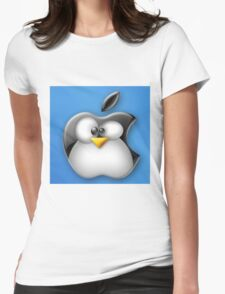 Linux Apple Womens Fitted T-Shirt