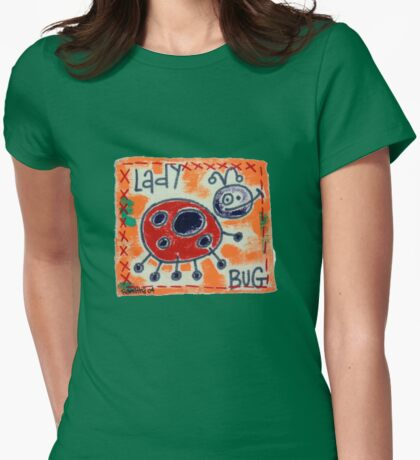 Ladybug 2 Womens Fitted T-Shirt
