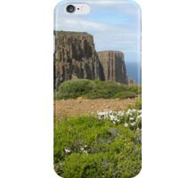Towards end of Cape Raoul with Epacris in flower iPhone Case/Skin