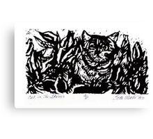 Cat in the Flowers Canvas Print