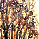 Autumn Begins - Trees by Linda Callaghan