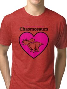 Love in the Time of Chasmosaurs logo: full color Tri-blend T-Shirt