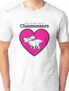 Love in the Time of Chasmosaurs logo: full color Unisex T-Shirt