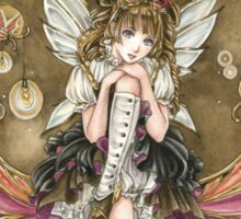 Gears and Glass Steampunk Fairy Sticker