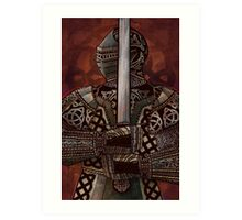 Celtic Knotted Knight Art Print