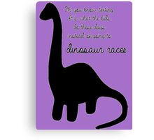 Dinosaur Races Canvas Print