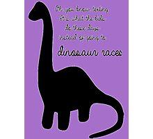 Dinosaur Races Photographic Print