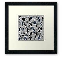URBAN/METRO camouflage!  So digital cameras cannot see you! Framed Print