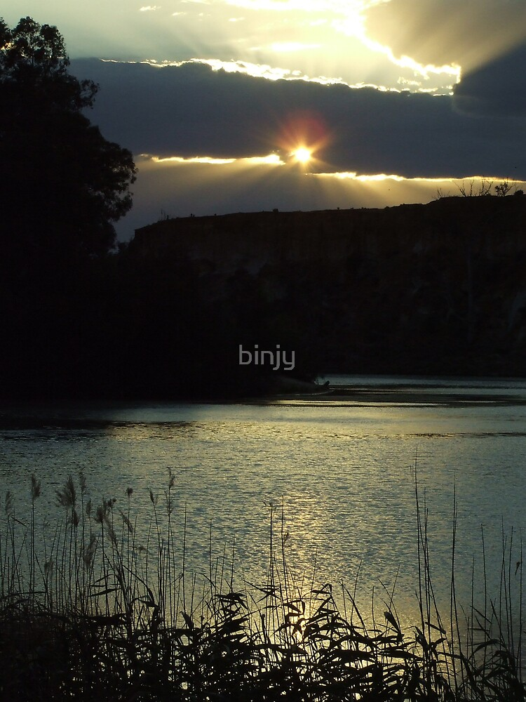 River Murray Sunset by binjy