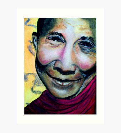 The fourteenth and current Dalai Lama.(Tenzin Gyatso (born 6 July 1935) Art Print