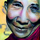The fourteenth and current Dalai Lama.(Tenzin Gyatso (born 6 July 1935) by ValerieSherwood