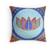 Peaceful Lotus Throw Pillow
