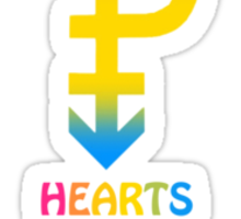 Pansexual HEARTS NOT PARTS! Sticker