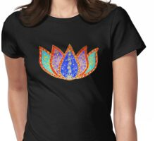 Peaceful Lotus Womens Fitted T-Shirt