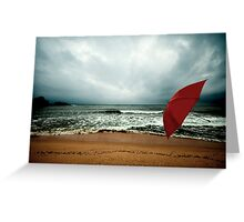 Red Umbrella II Greeting Card