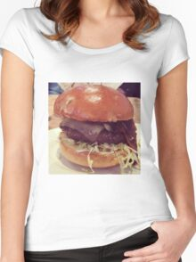 Bacon Cheeseburger Photo Women's Fitted Scoop T-Shirt