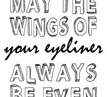 Even Eyeliner by SusqueHanah