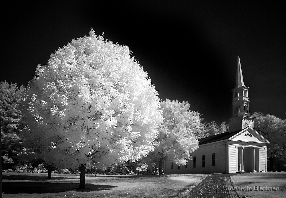 Steepled Church Infared by Annette Blattman