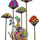 Gnome Snail Ride by Octavio Velazquez