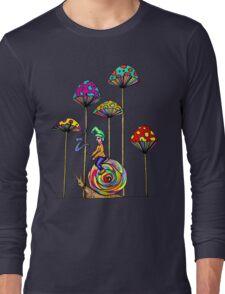 Gnome Snail Ride Long Sleeve T-Shirt