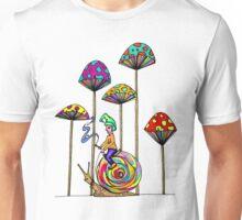 Gnome Snail Ride Unisex T-Shirt