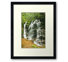 Sylvia Falls .. the lighter version Framed Print