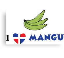 I Love Mangu Canvas Print