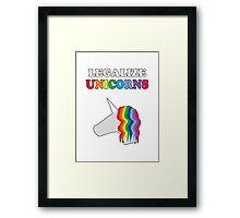 Legalize Unicorns Framed Print