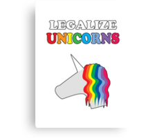 Legalize Unicorns Canvas Print